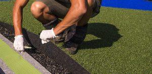 artificial grass installer fitting